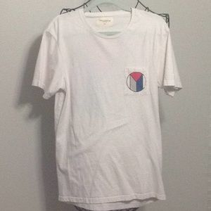 New York City Graphic Pocket T-Shirt LARGE White